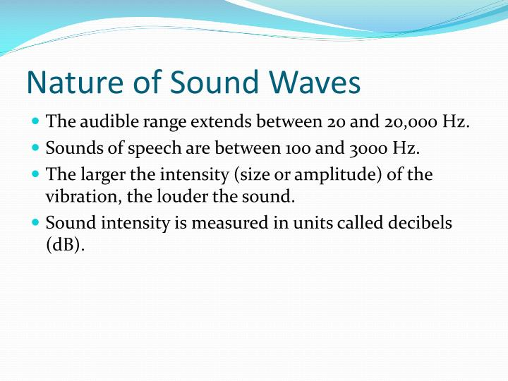 Nature of Sound Waves