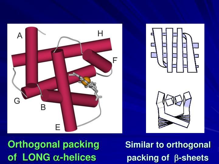 Orthogonal packing