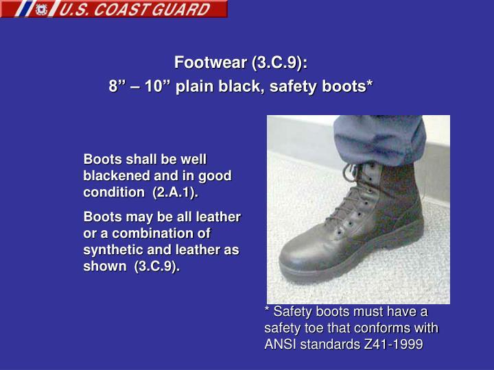 Footwear (3.C.9):