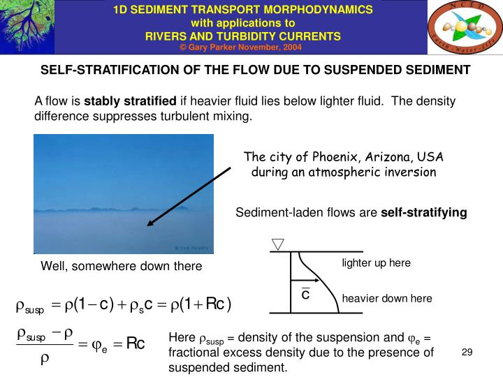 SELF-STRATIFICATION OF THE FLOW DUE TO SUSPENDED SEDIMENT