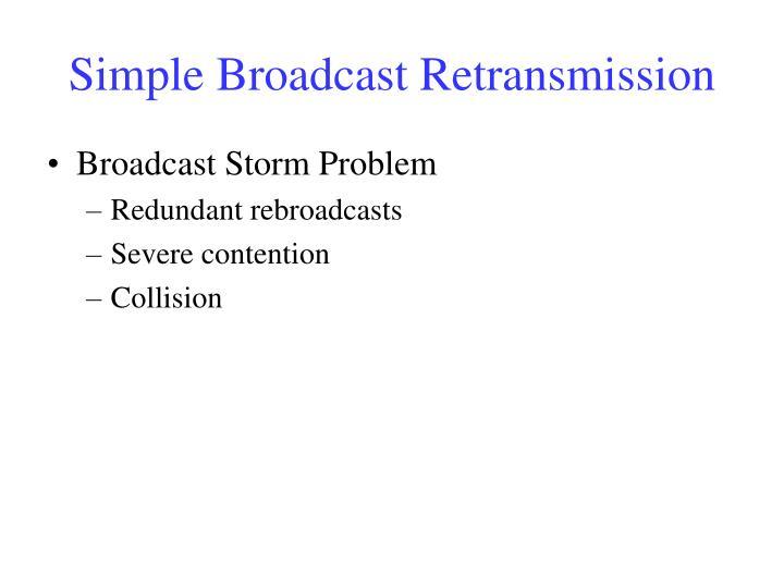 Simple Broadcast Retransmission