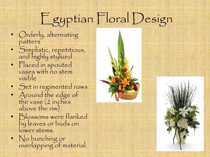 Ppt The History Of Floral Design Powerpoint Presentation