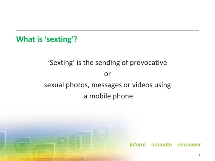 What is sexting
