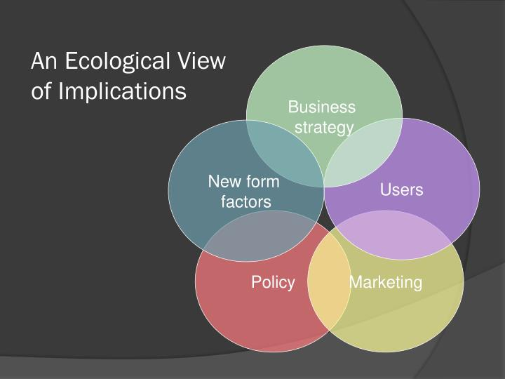 An Ecological View