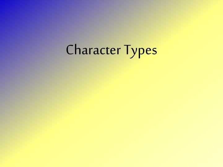 character types n.