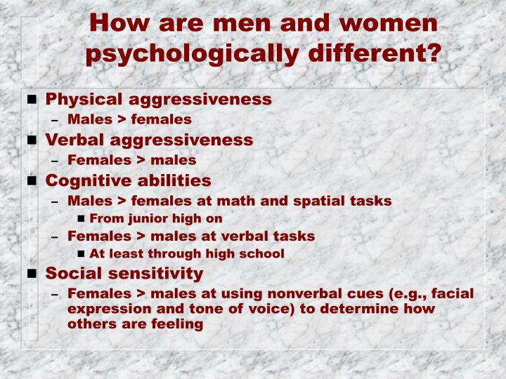 How are men and women