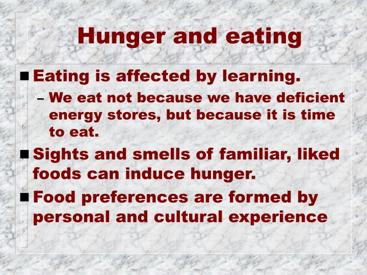 Hunger and eating