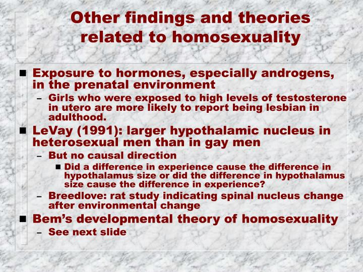 Other findings and theories