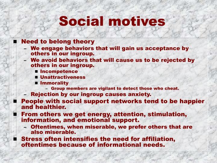 Social motives