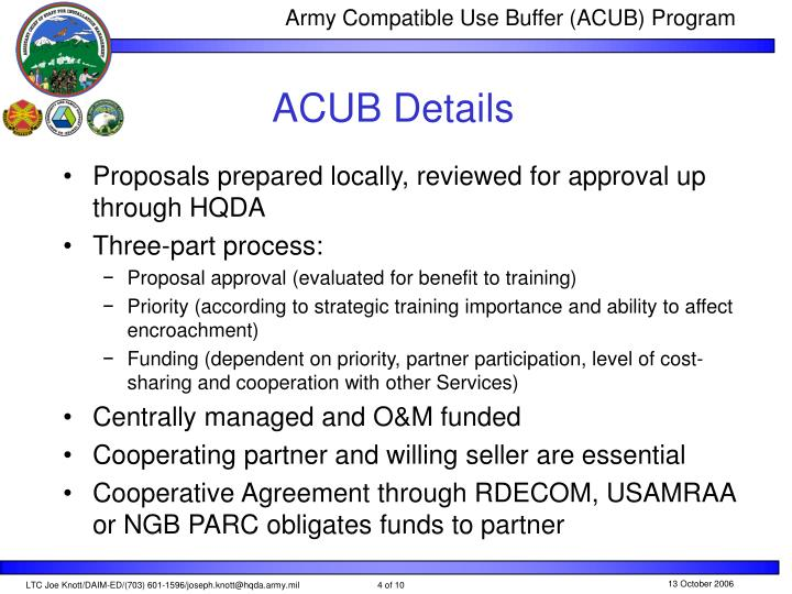ACUB Details