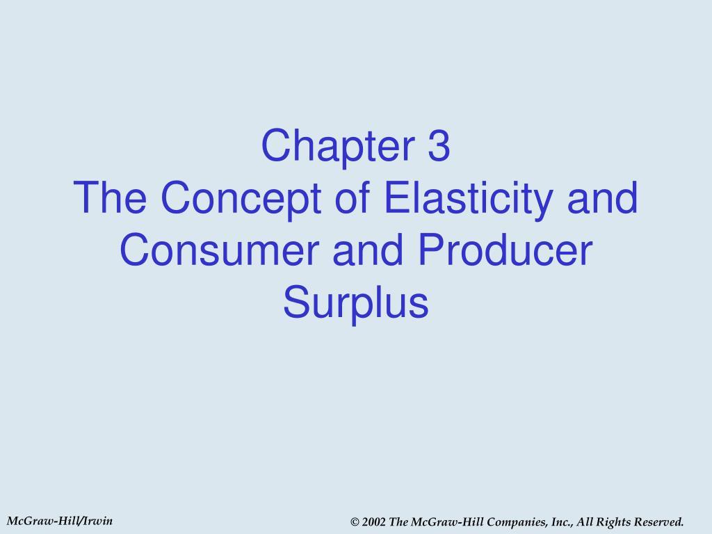 concept of elasticity