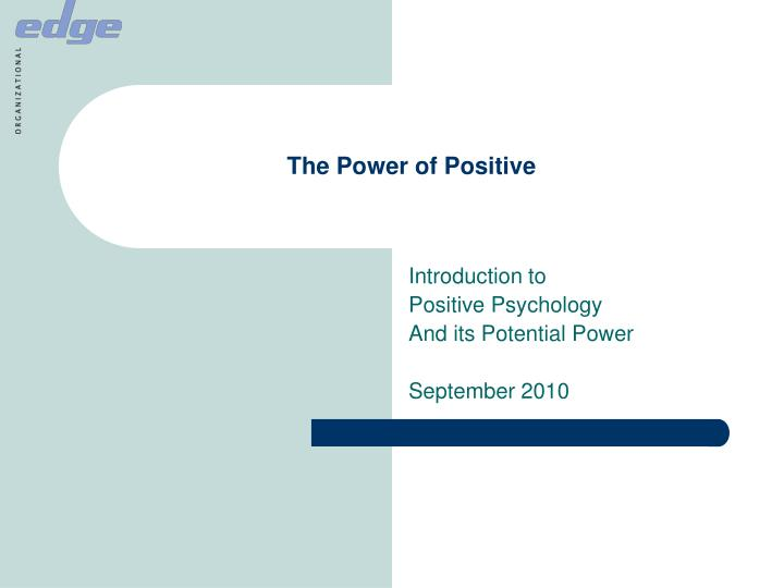 the power of positive n.