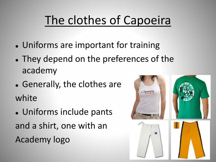 The clothes of