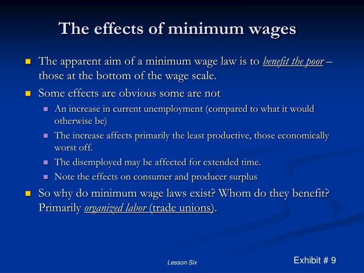 The effects of minimum wages