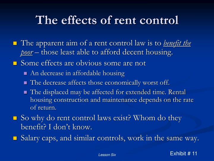 The effects of rent control