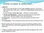 once a case is selected