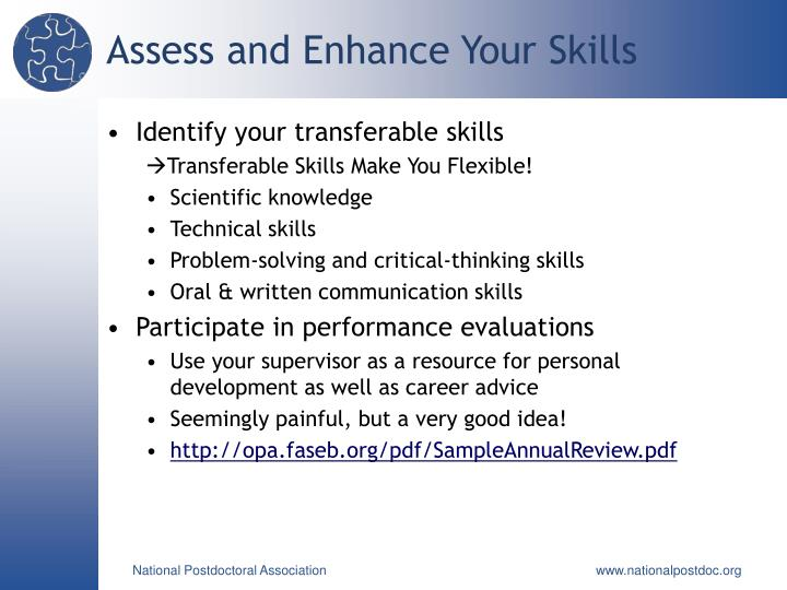 Assess and Enhance Your Skills