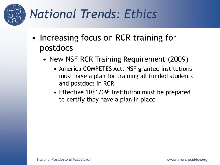 National Trends: Ethics