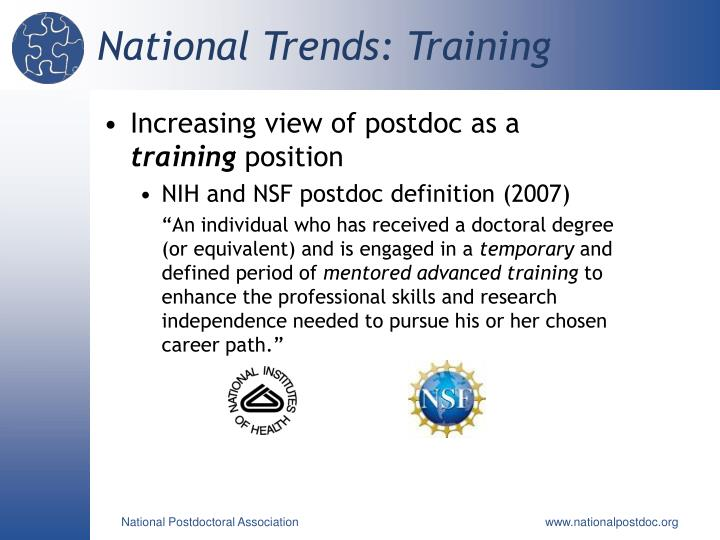National Trends: Training