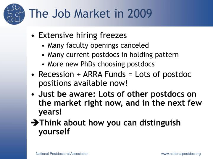 The Job Market in 2009