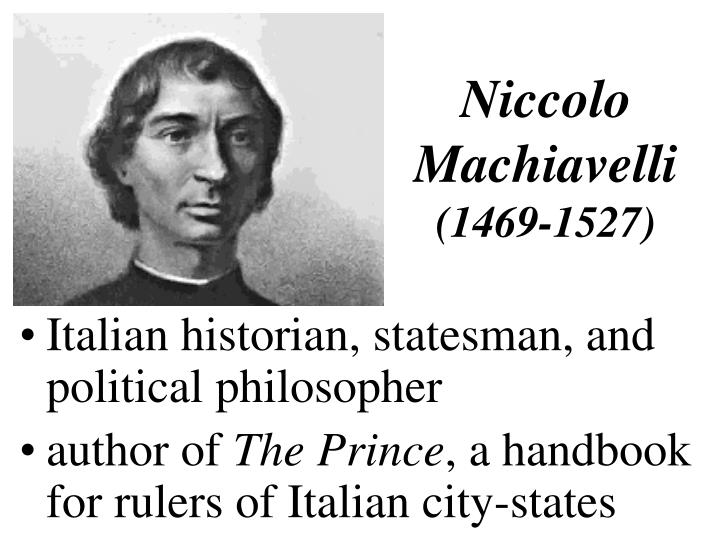 an overview of john locke and niccol machiavelli and political philosophers