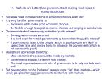 14 markets are better than governments at making most kinds of economic choices