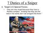 7 duties of a sniper2