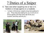 7 duties of a sniper4