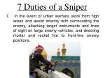 7 duties of a sniper5