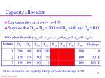 capacity allocation