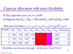 capacity allocation with more flexibility