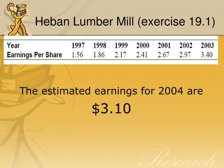 Heban Lumber Mill (exercise 19.1)