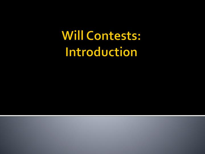 will contests introduction n.