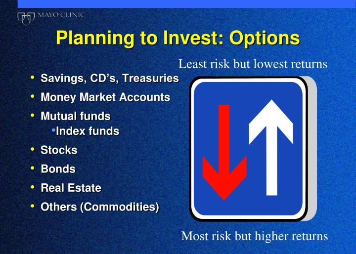Planning to Invest: Options