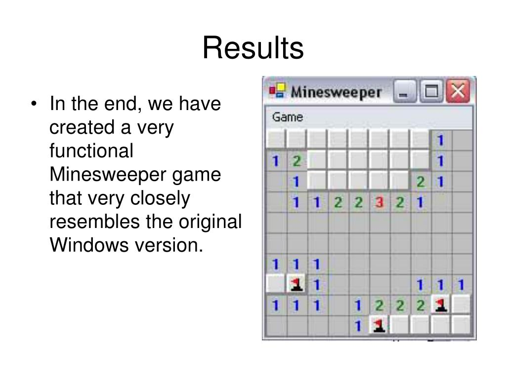 PPT - Minesweeper PowerPoint Presentation - ID:1703701