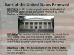 bank of the united states renewed
