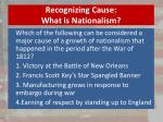 recognizing cause what is nationalism