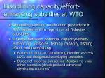 disciplining capacity effort enhancing subsidies at wto