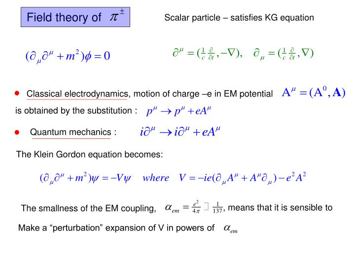 Field theory of