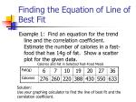 finding the equation of line of best fit