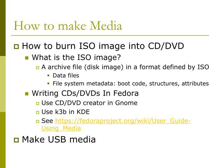 How to make Media