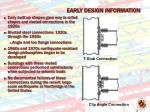 early design information