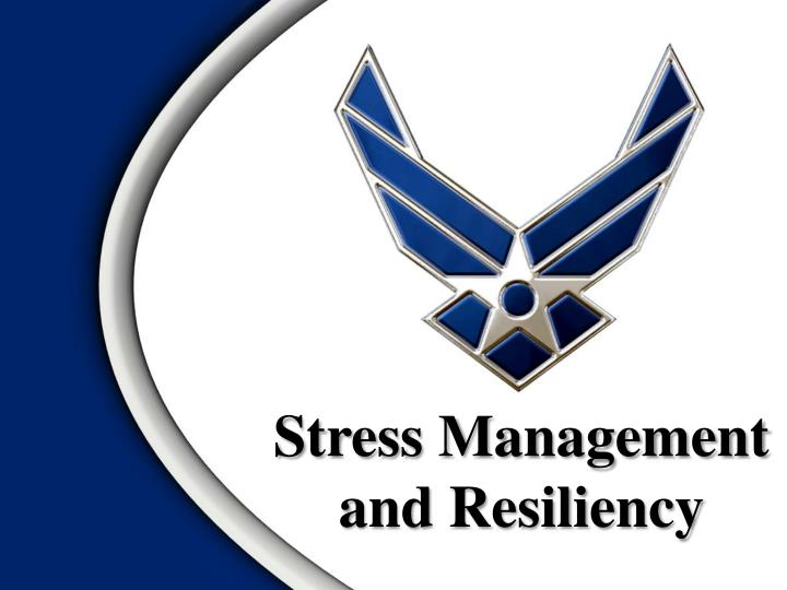 stress management and resiliency n.