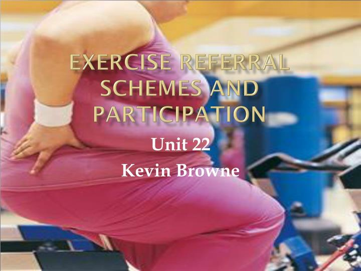 exercise referral scheme The national exercise referral scheme (ners) provides high quality and varied exercise opportunities for torfaen residents the scheme is designed for people who are not physically active.