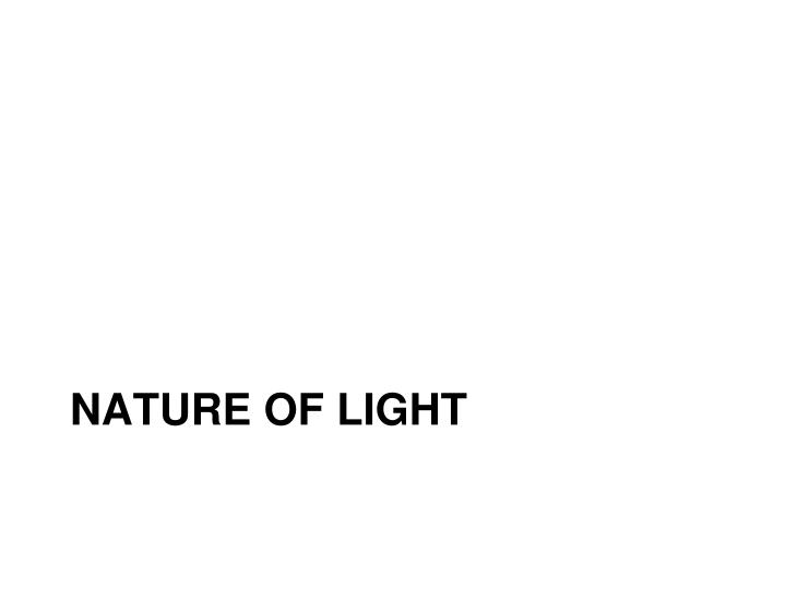 nature of light n.