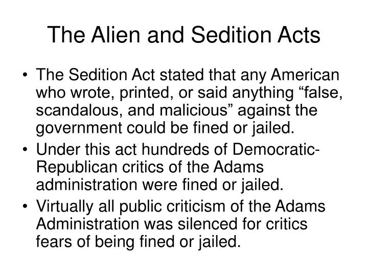 controversies as a result of the alien and sedition acts essay American history essays: alien and sedition acts alien and sedition acts this essay alien and sedition acts and other 63,000+ term papers, college essay examples and free essays are available now on reviewessayscom.