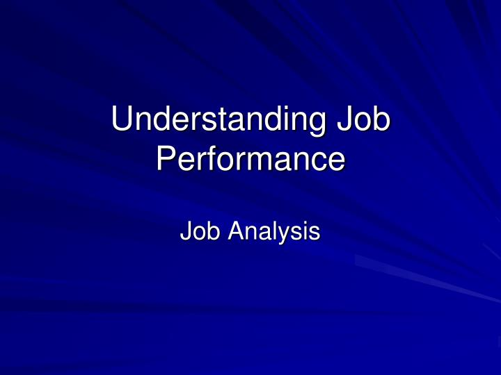 what is job analysis in hrm