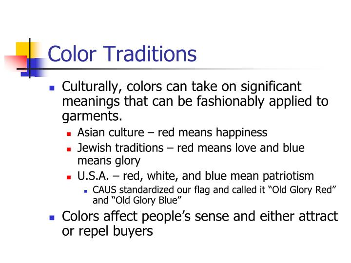 Color Traditions