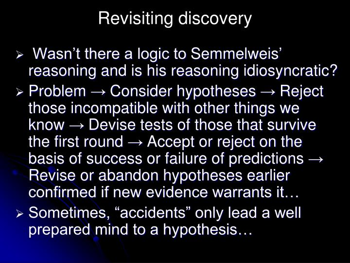 Revisiting discovery