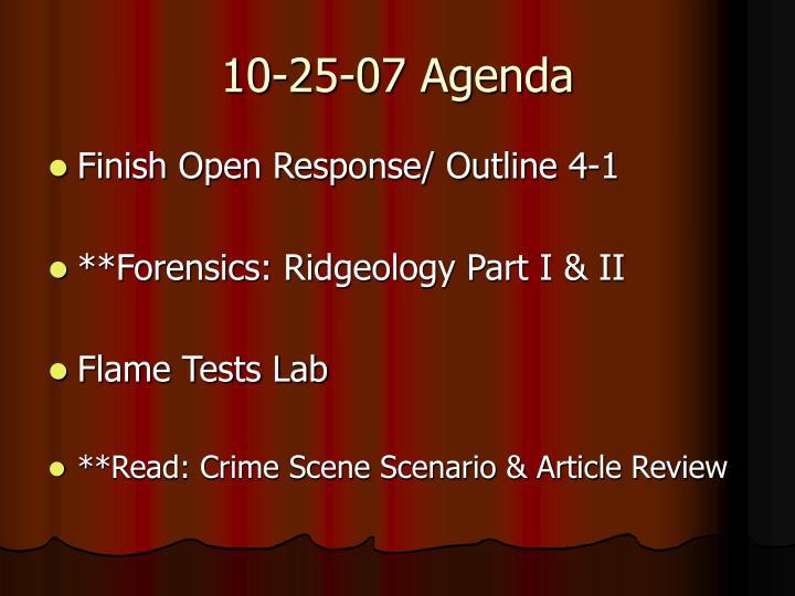 10-25-07 Agenda